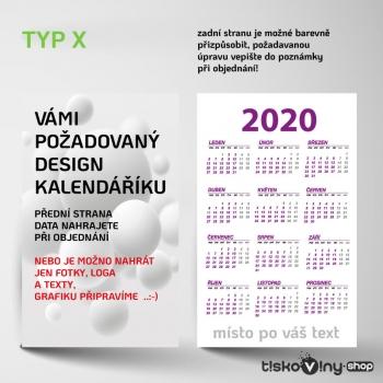 KAPESNÍ KALENDÁŘÍK X