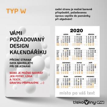 KAPESNÍ KALENDÁŘÍK W
