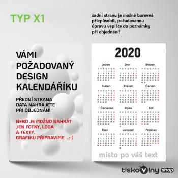 KAPESNÍ KALENDÁŘÍK X1