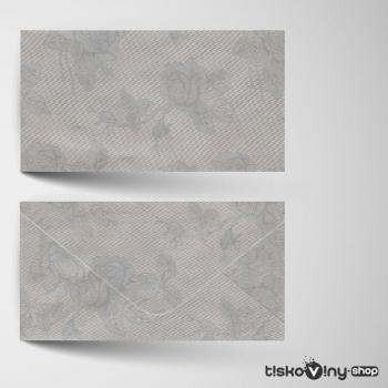 Stříbrná obálka DL s ražbou