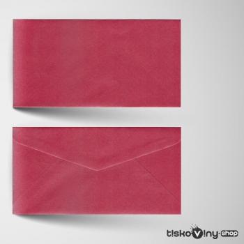 Červená metalická obálka DL