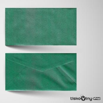 Zelená metalická obálka DL
